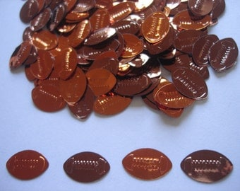 50 American Football Sport Shiny Glossy Brown Party Supplies Die Cuts Confetti