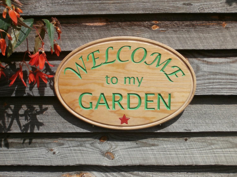 Unique Wood Garden Sign Yard Vegetable By Greencottagedesign