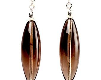 Havanna - earrings of smokey quartz and sterling silver