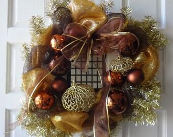 "24"" Christmas Decor Mesh Wreath"