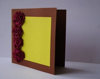 Roses congratulation card
