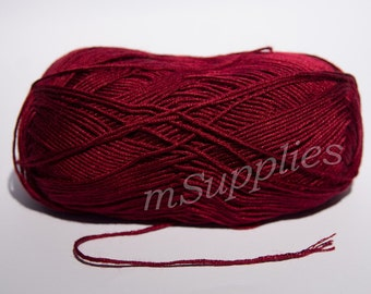 Claret Acrylic 100% Yarn 100g
