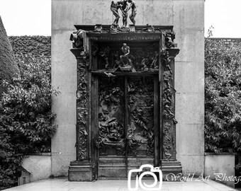 The Gates of Hell, Museum Rodin, Paris photo, Gallery wrap, Paris Print, Canvas print, Canvas photo, Home decor, Room decor, French decor