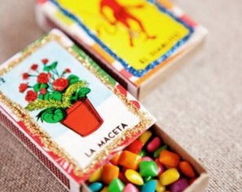 Personalized Match Box Party Favors