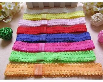 Bulk Wholesale 10 Lace Elastic Baby Headband Girl Stretchy Hair Band Free Postage