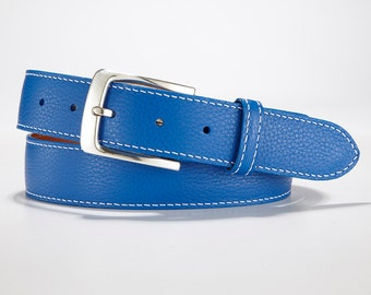 Genuine, Authentic Italian Pebble Grain Leather Belt: Also known as a Golf Belt
