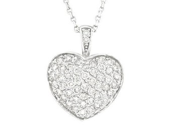 Diamond Heart Pendant with Chain