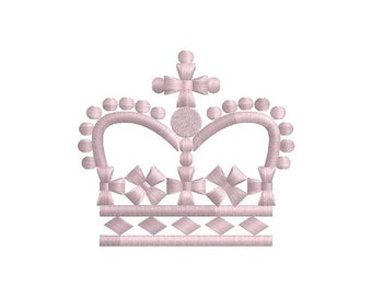 Fancy Crown machine embroidery design