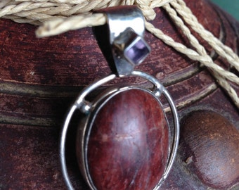 Sterling Silver Stone Pendant