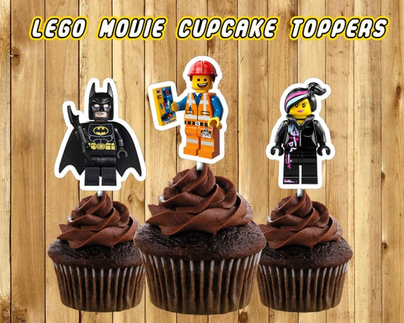 Lego Movie Cupcake Toppers - DIY Instantly Downloadable and Printable - 11 Characters - 4 Blocks