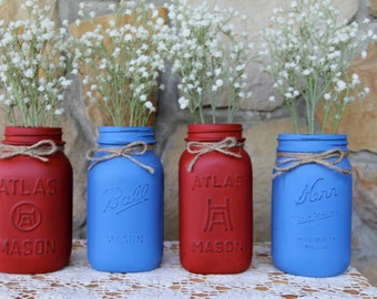 Chalk Painted Mason Jars