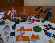 Minecraft inspired papercraft stampy amp friends