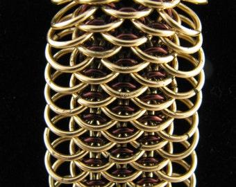Brass Dragonscale Cuff