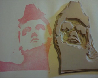 Morrissey Hand Carved Rubber Stamp