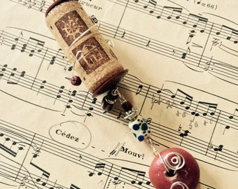 Earthy Wine Cork Ornament, Wine Cork Christmas Ornament