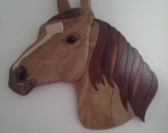 Australian Intarsia Horse Head