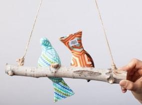 Love Birds - Baby Bird Mobile in Gender Neutral/ Boy prints