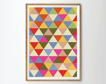 Geometic poster, Geometric Art Print,  Abstract Art Print, Abstract Poster,  Retro Poster, Retro Art Print, Mid Century Print Poster