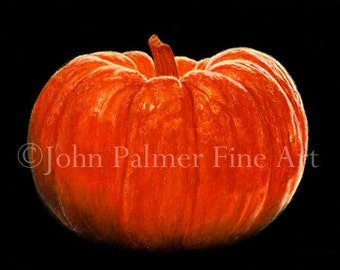 Pumpkin / Halloween -  Greeting card from my painting of a Pumpkin