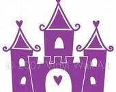 Castle Vinyl Decal size LARGE - Princess Castle, Fairy Tale Castle, Little Girl Wall Art, Child Wall Art, Princess Designs, Bedroom Decor