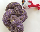 Handspun Knitting & Crocheting Yarn, Hand Dyed, Worsted Weight, 136 Yds, Angora Babydoll Cheviot Blend - Don't Fall in the Spring Mud