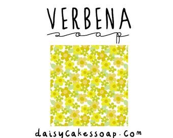 Verbena Soap, A Super Lemony Body Bar with Cocoa Butter and Jojoba
