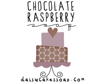 Chocolate Raspberry Soap, A Scrumptious Body Bar with Cocoa Butter and Jojoba