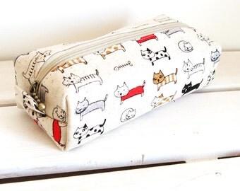Long box pouch - cat print
