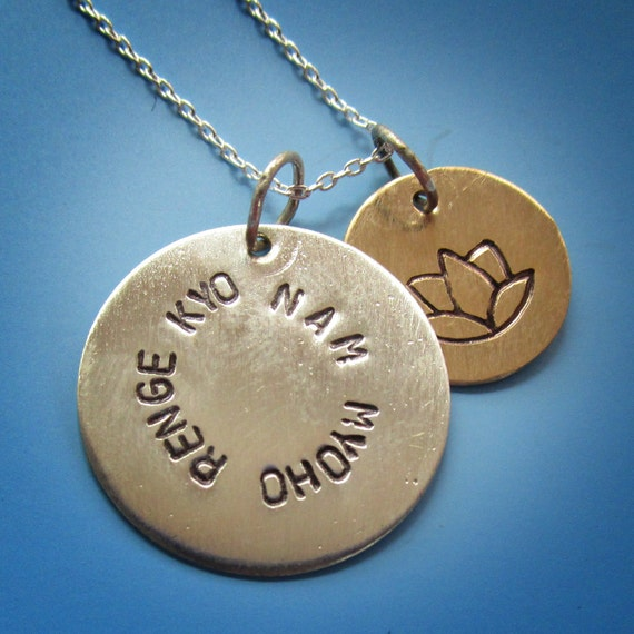 nam myoho renge kyo necklace