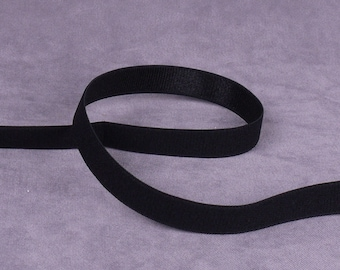 Black Waistband or Strap Elastic - 1/2 inch - 5 yards (E32B3-5)