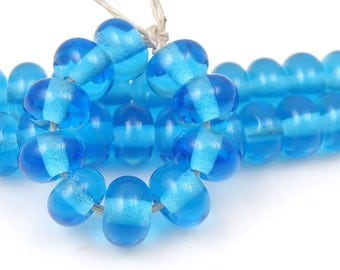CiM Birthstone - Handmade Artisan Lampwork Glass Beads 5mmx9mm - SRA (Set of 10 Spacer Beads)