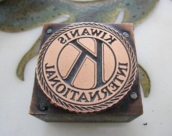 Vintage Letterpress Printers Block Kiwanis International