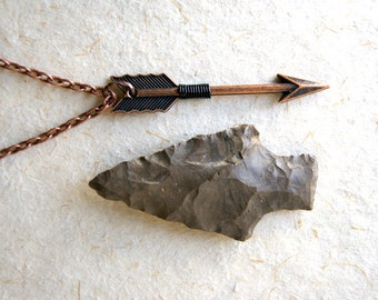 Copper Arrow Necklace - wire wrapped arrow necklace - Arrow Necklace - Arrow Jewelry  - Men's Arrow Necklace - Sagittarius necklace