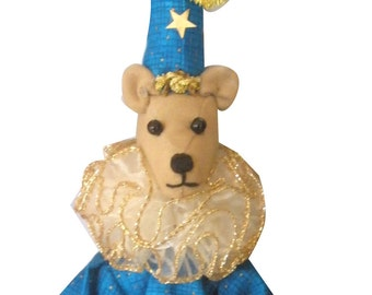 "BEAR POPPIN- Cone PUPPET by Michelle Munzone,  approx. 56cm (22"") Tall, Limited Edition, Hanging Christmas Ornaments"