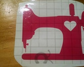 Vintage sewing machine decal