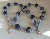 Lovely Sodalite Necklace with Sterling Silver, Smokeylady54
