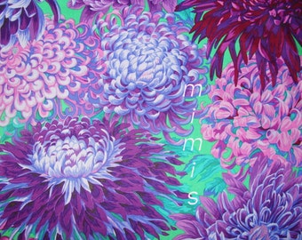 Japanese Chrysanthemum in Purple PJ41 Phillip Jacobs, Kaffe Fassett Fabric  1/2 yard Quilt Craft and Apparel fabric
