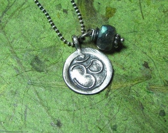 The Element of Om - Labradorite and Sterling Silver Necklace