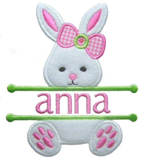 Easter bunny applique split