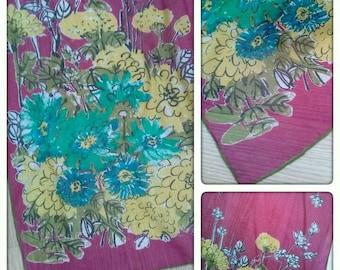 Vintage 1960s Scarf Silk Sash Long Mod 60s Vera Neumann 2014586