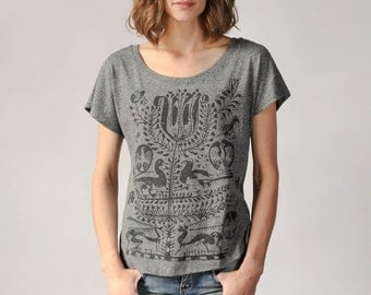 Bohemian Shirt- Loose T-Shirt, Comfy Tee, Tree of Life Design