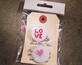 Cross Stitch Pin Set, Lotta Love