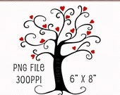Clip Art Singles, Heart Tree Clip Art, Heart Tree Digital Scrapbooking, Tree Clipart, Tree Graphics, Digitals, Digital Scrapbooking, Clipart