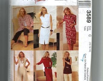 McCall's Misses' Shirt-Dresses, Duster, Shirt, Pants and Capri Pants Pattern 3589