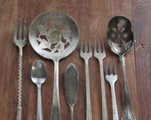 Silver Plate Serving Lot.  Vernon, Simeon L. & George H. Rogers Co., Aura.  Downton Abbey.