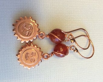 Red Agate Surya earrings