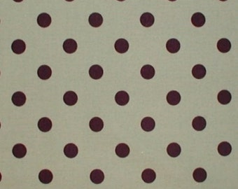 Sage Brown Fabric Polka Dot Dots Green Chocolate 2/3 yard 44 wide Cotton Quilting