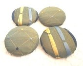Green buttons, fabric buttons, 1.5 inch buttons