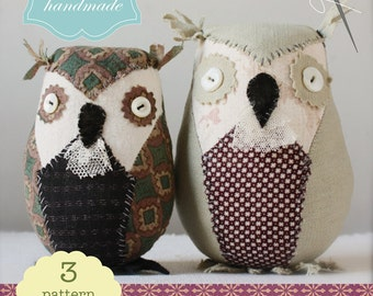 a sewing pattern : little owls