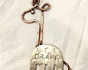 "Fork ""Draff"" Giraffe Necklace"